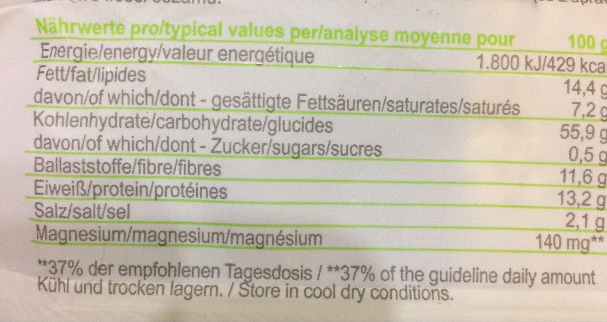 Cracker Epeautre Pavot - Nutrition facts