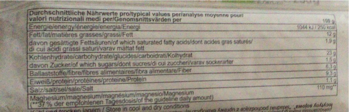 Sesam Schnitten - Informations nutritionnelles - fr