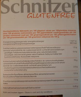 Schnitzer Mais Rigatoni 500G - Ingrédients - fr