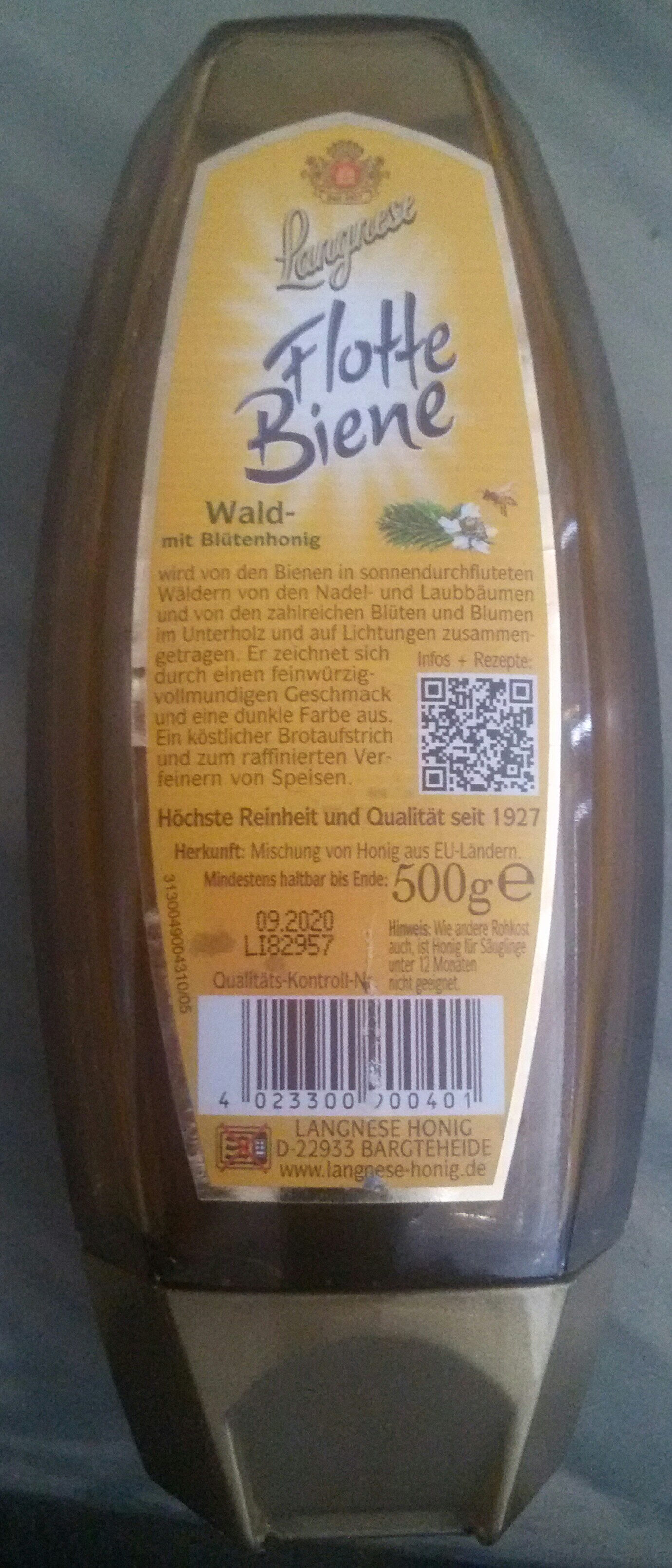 Flotte Biene Wald- mit Blütenhonig - Nutrition facts - de