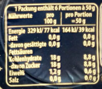 Götterspeise minis Himbeer Geschmack - Informations nutritionnelles - de