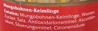 Mungobohnen Keimlinge - Ingrédients - de