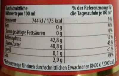 Sweet & Sour Sauce - Informations nutritionnelles - de