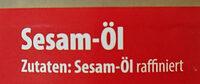 Sesam-Öl - Ingrédients - de