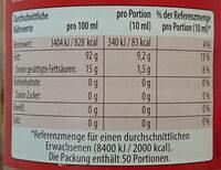 Sesam-Öl - Informations nutritionnelles - de