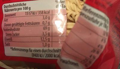 Eier Mie Nudeln - Ingrédients - fr