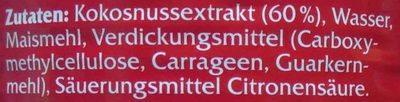 Kokosmilch cremig - Ingrédients - de
