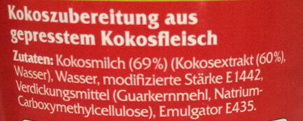 Kokosmilch fettreduziert - Ingrédients - de