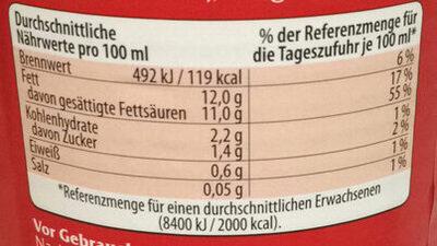 Kokosmilch fettreduziert - Informations nutritionnelles - de