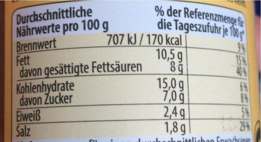Tikka Masala, Curry Paste Mild - Informations nutritionnelles - en