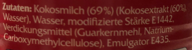 Kokosmilch - Ingrédients - de