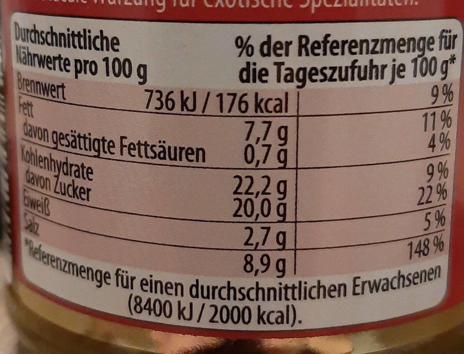 Gelbe Curry-Paste - Informations nutritionnelles - de