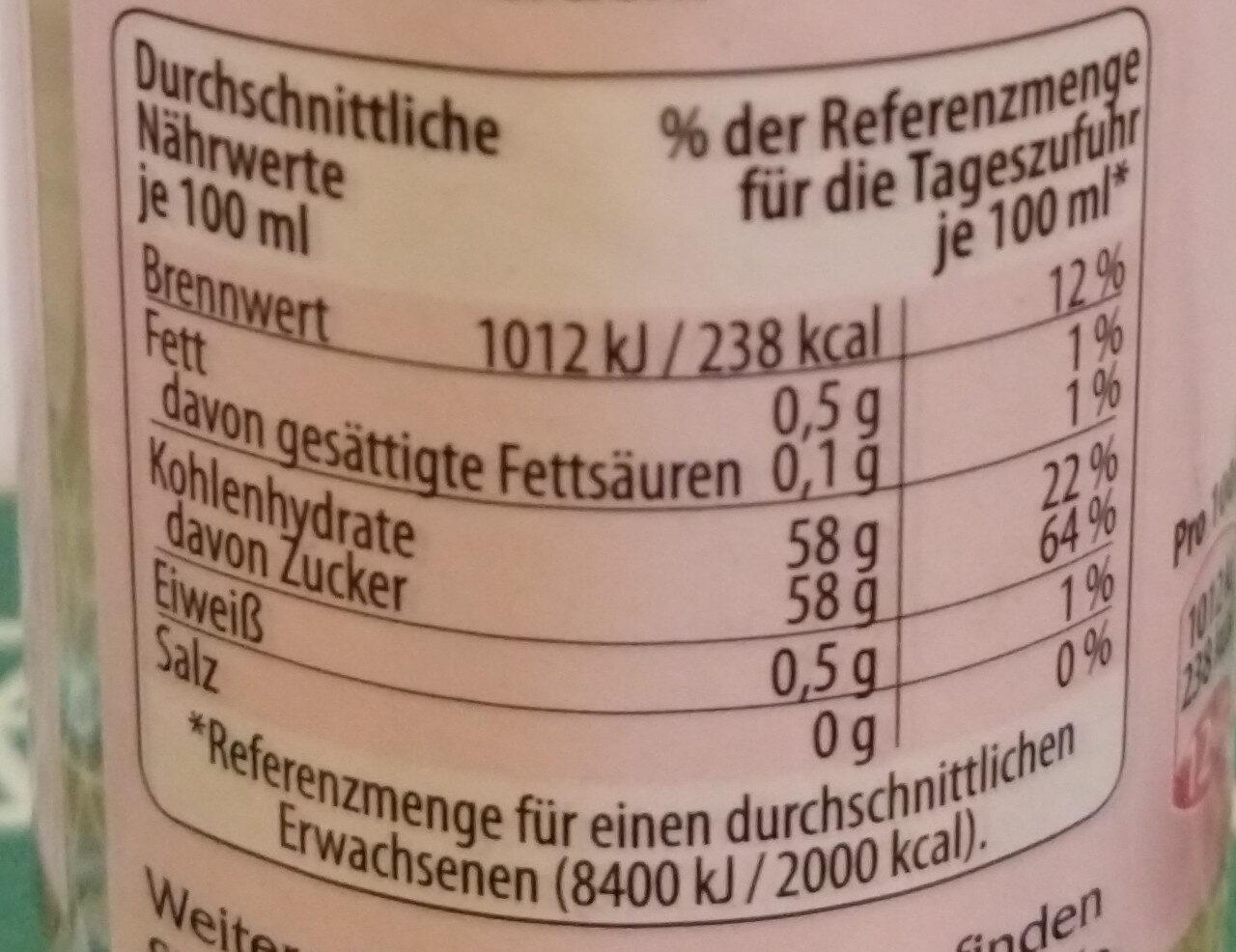 Mirin - Informations nutritionnelles - de