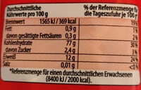 Mie Nudeln - Informations nutritionnelles - de