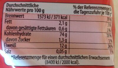 Eier Mie Nudeln - Informations nutritionnelles - en