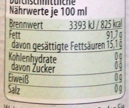 Sesamöl geröstet - Informations nutritionnelles - de