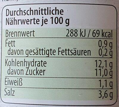 Sambal Oelek - Informations nutritionnelles - en