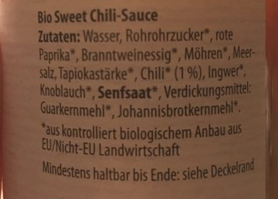 Sauce sweet-chili - Ingredients