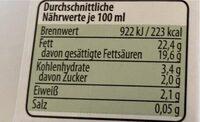 Kokosmilch - Informations nutritionnelles - de