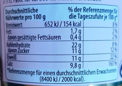 Miso-Paste Dunkel - Informations nutritionnelles - de