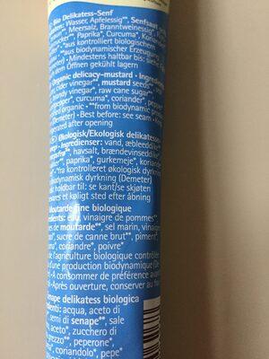 Delikatess Senf - Ingredients - en
