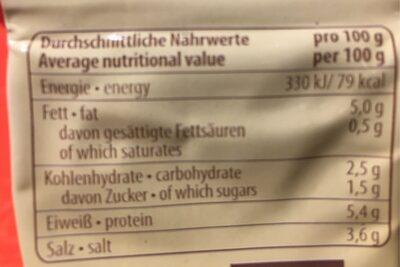 Delikatess Senf - Nutrition facts - fr