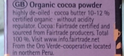 Peru cocoa-cacao - Ingredients