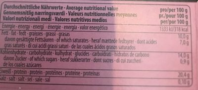 Peru cocoa-cacao - Informations nutritionnelles