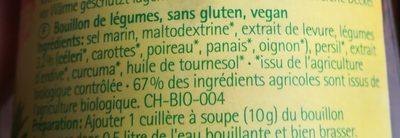 Bouillon De Légumes Naturel - 200G - Naturata - Ingredients - fr