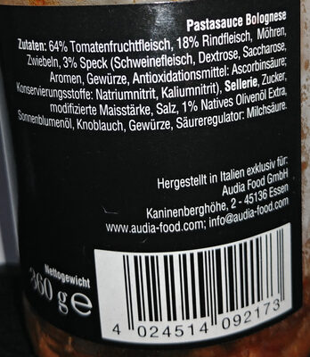 Pastasauce Bolognese - Ingredients