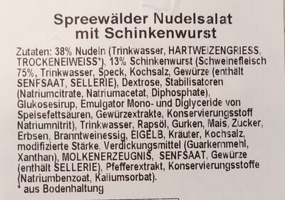 Spreewälder Nudelsalat mit Schinkenwurst - Ingrediënten