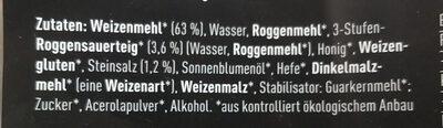 Rhönweck Bio-Brötchen - Ingrediënten - de