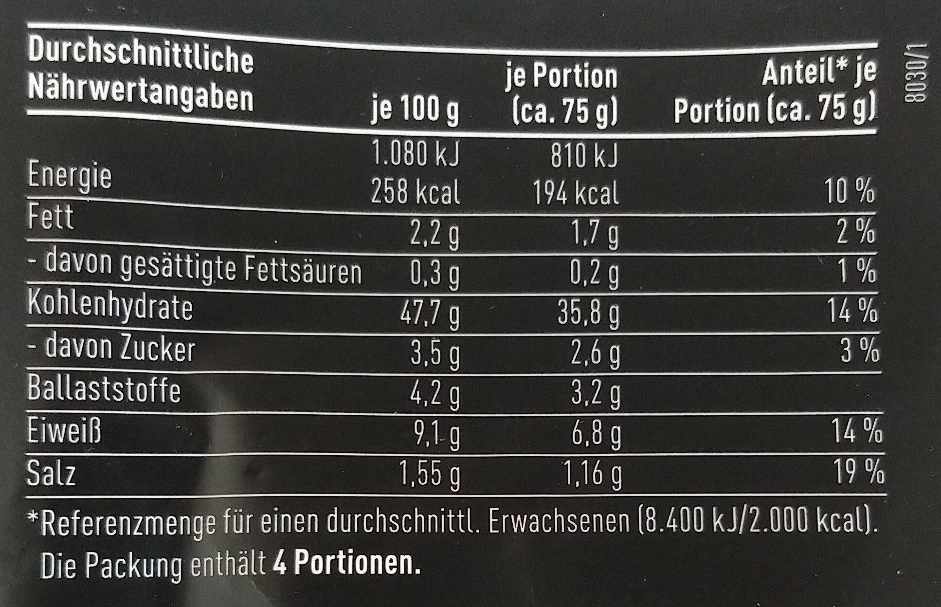 Rhönweck Bio-Brötchen - Voedingswaarden - de