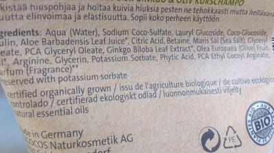 Repair shampo bio ginkgo & olive - Ingredients - en