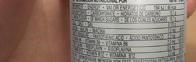 Effect energy drink - Informations nutritionnelles - de
