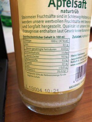 Apfelsaft - Informations nutritionnelles - de