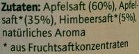 Apfel-Himbeer-Drink - Inhaltsstoffe
