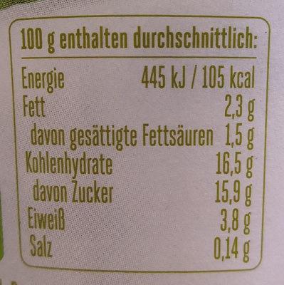 Froop Kiwi - Informations nutritionnelles