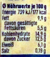 Joghurt mit der Ecke Griechischer Art Mandel Crunch - Informations nutritionnelles