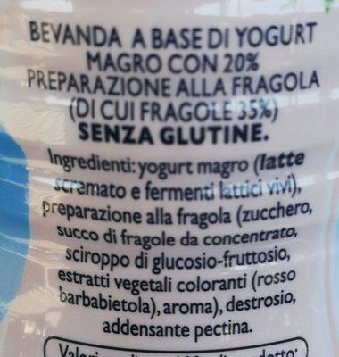 Drink a base di yogurt alla fragola - Ingredients