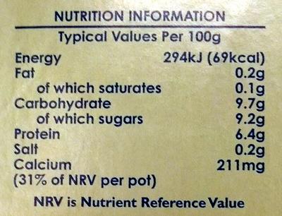 Light Greek Style Smooth Ravishing Raspberry Yogurt - Nutrition facts - en