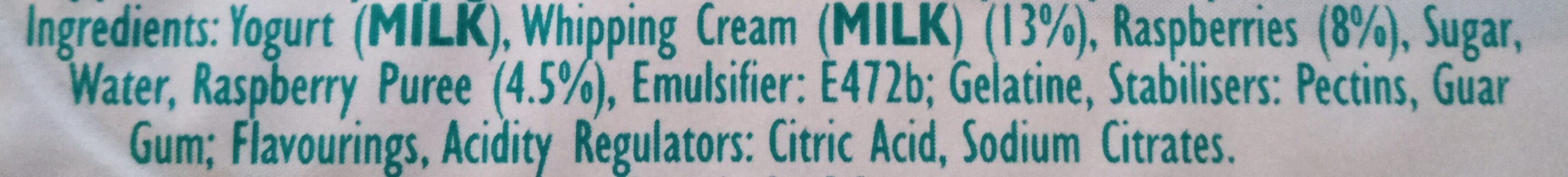 Whipped Greek Style Yogurt - Ingrediënten - en