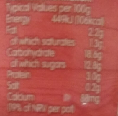 Muller Rice Strawberry - Nutrition facts - en
