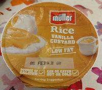 muller rice vanilla custard - Product - en