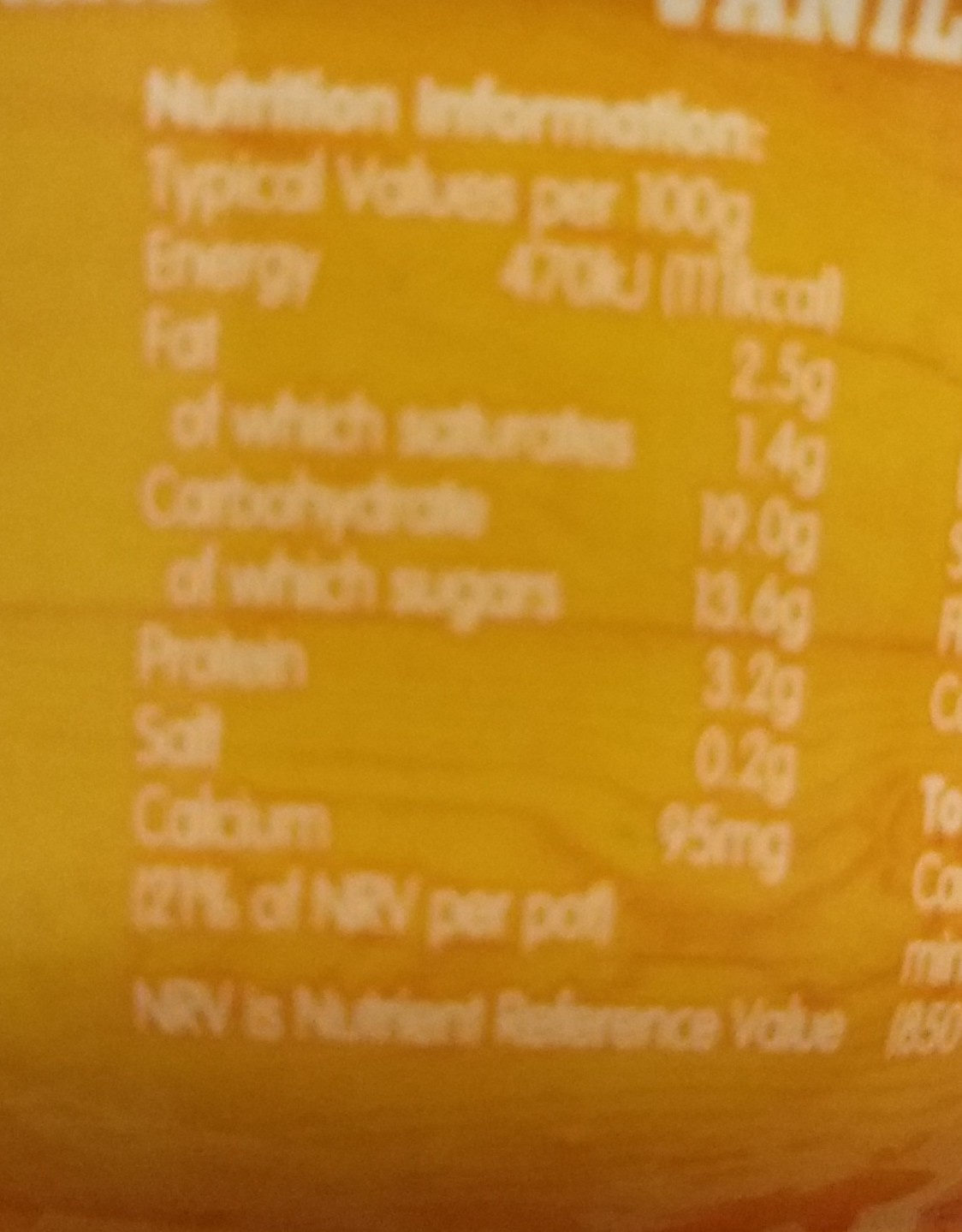 muller rice vanilla custard - Voedingswaarden - en