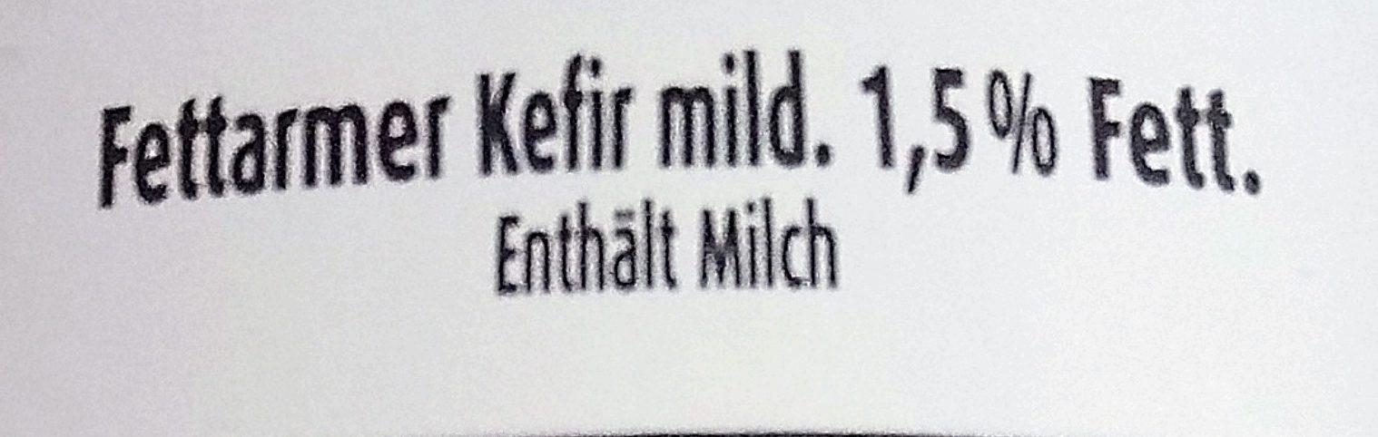 Fettarmer Kefir 1.5% - Inhaltsstoffe - de