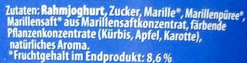 Rahmjoghurt Marille - Ingredients