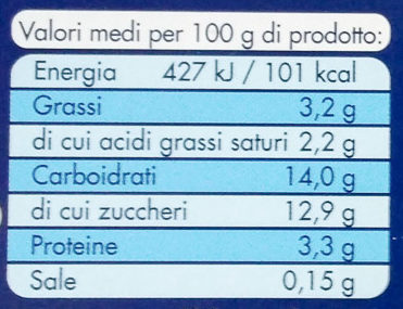 Ygurt cremoso ciliegia - Informations nutritionnelles