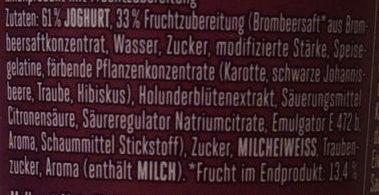 Froop Brombeere Holunderblüte - Ingredients