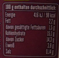 Froop Brombeere Holunderblüte - Nutrition facts